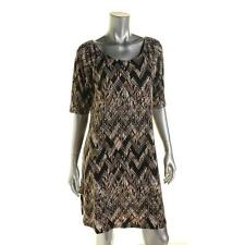 Connected Apparel 5483 Womens Taupe Elbow Sleeves Mini Casual Dress 12P BHFO