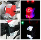 2PCS Silicone Bike Bicycle Cycling Flexible Front Rear LED FlashLight Lamps EPS