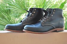 Wolverine 1000 Mile MC Clean Boot Cuir Noir W08804 USA Made SZ US 10.5 UK 9.5