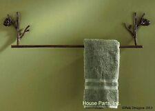 "Park Designs Pine Lodge Decorative 24"" Towel Bar Holder Cabin Lodge Stick cone"