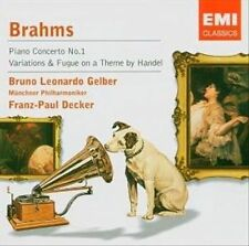 BRAHMS: PIANO CONCERTO NO.1/ VARIATIONS & FUGUE ON (724358686524) USED - VERY GO