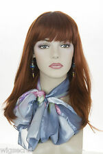 Fox Red (Clear Cool Vivid Red) Red Long Medium Skin Top Wavy Straight Wigs