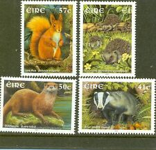 Ireland mammals set of 4 mnh ((2002)Badger,Squirrel,H,hog,Otter