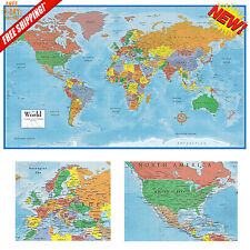 World Map Classic Huge Large Paper Wall Map 24x36 Poster Home Office School