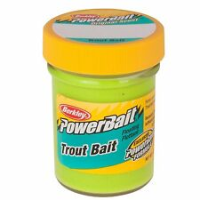 New! Berkley PowerBait Trout Dough Bait Chartreuse, 1.8 oz Jar 1004781