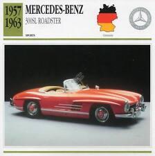 1957-1963 MERCEDES BENZ 300SL Roadster Sports Classic Car Photo/Info Maxi Card