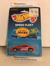 #4  Fiero 2M4 1458 * RED * 1986 Malaysia * Vintage Hot Wheels * E18