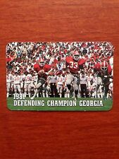 CFB 1981 GEORGIA BULLDOGS Football Schedule BUCK BELUE Defending National Champs
