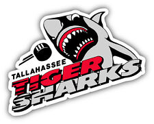 Tallahassee Tiger Sharks ECHL Hockey Logo Car Bumper Sticker Decal 5'' x 4''