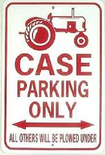 CASE PARKING ONLY Aluminum Tractor Sign