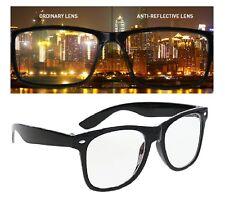 Sunglasses Anti Reflective Black Wayfarer Eyeglasses Unisex Spectacle Frame