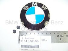 BMW Hood Emblem Badge Logo Roundel W/Grommets Factory Genuine Original OEM 82MM