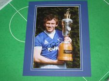 Peter Reid Signed Mounted Everton FC 1985 Player of the Year Trophy Photograph