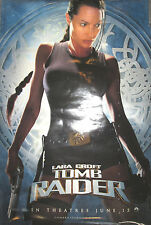 LAURA CROFT TOMB RAIDER 2-sided promo poster, 2001, 27x40, VG, Angelina Jolie