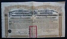 China - 5,5% Government of Province of Petchili - 1913 - uncancelled / coupons