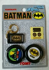 Vintage Tomy 1989 DC Comics Batman UFO, Keychain, Stickers #3~ Cosmic Artifacts