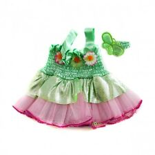 "Fairy outfit dress with earbow teddy bear clothes fit 15"" bears build a plush"