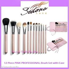 NEW Sedona Lace 12-Piece PINK PROFESSIONAL Brush Set FREE SHIPPING Makeup BNIB