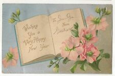 Wishing You a Very Happy New Year - Vintage 1906-1907 New Year's Day Postcard