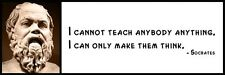 Wall Quote - SOCRATES - I cannot teach anybody anything. I can only make them