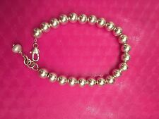 925 Sterling Silver Beads Ball Bracelet Chain Pearl 8mm