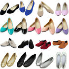 New Womens Boat Shoes Casual Slip On Flats Loafers Ballet Dolly Pumps Shoes Size