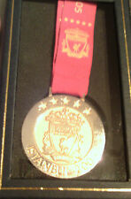 LIVERPOOL OFFICIAL ISTANBUL CHAMPIONS LEAGUE WINNERS BOXED MEDAL