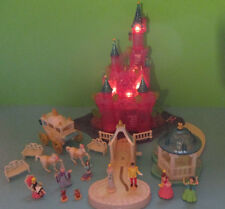Polly Pocket Mini Disney ♥ Cinderella Märchen Schloss ♥ fast komplett ♥ LICHT ♥