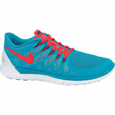 Men's Nike Free 5.0 Running Shoes Blue Lagoon/Bright Crimson 642198-406  Size 11