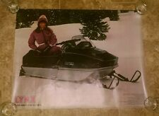 Vintage 1974 Arctic cat Lynx snowmobile dealer poster sign 28x22