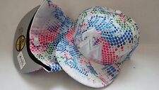 NWT NEW ERA HAT CAP FITTED MIAMI MARLINS SIZE 7 3/4 WHITE MULTICOLOR DOTS
