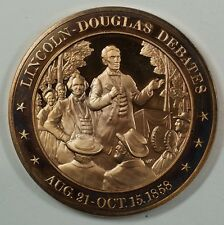 History of the U.S. Lincoln-Douglas Debates (1858) Proof Bronze Medal