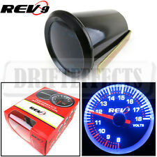 "UNIVERSAL 2"" 52MM VOLT VOLTAGE GAUGE CAR METER TINT LENS REV9 POWER"
