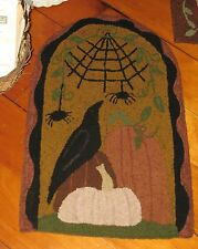 "PRIMITIVE PUNCH NEEDLE PATTERN ~ ""UNDER THE WEB"" HALLOWEEN"""
