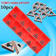 10tlg.TCMT110204 VP15TF / TCMT21.51 Hartmetall-Einsätze CNC-Blatt Drehmaschine
