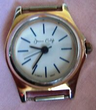 Vintage jessica carlyle Lady watch Quartz #8552 Rose Gold Tone,White round Face