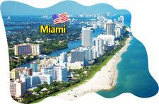 Miami USA Amerika Fridge Magnet Flagge Fahne Epoxid Reise Souvenir