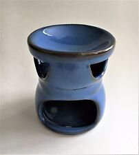 "Ceramic Oil Burner/Warmer Aromatherpy Oil Lamp 3""x 2.5""  #2 Blue"