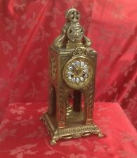 Rare Antique French Bronze Ormolu Temple Like Clock Possibly for Chinese Market