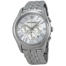 Armani Classic Chronograph Silver Dial Stainless Steel Mens Watch AR1702