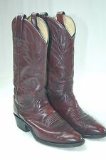 Dan Post 7D Western Cowboy Boots USED Oxblood Color