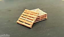 1:64 Scale Natural Wood Pallets (4 Pieces) CUSTOM/TOY/DCP/FARM/DISPLAY