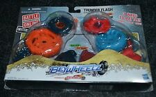 BEYBLADE BEYWHEELZ THUNDER FLASH SPIKE GASH STRIKER & WILD FORTUNE DESTROYER