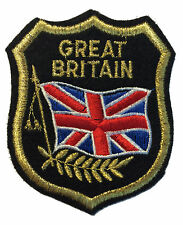 Great Britain Flag Patch Felt Crest Badge England UK IRON ON or SEW ON APPLIQUE