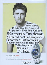 Pulsar Chronograph Performance Collection Watch 2004 Magazine Advert #2520