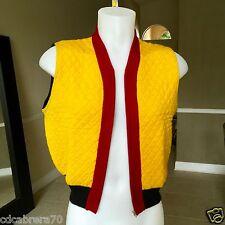 vintage JUNIOR GAULTIER Quilted yellow wool blend unisex vest size 48 ita