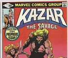 KA-ZAR The Savage #1 with Zabu and Shanna Marvel Comics from Apr. 1981 in FVF