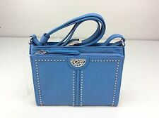 Brighton Pretty Tough City Organizer Purse Shoulder Bag Bali Blue