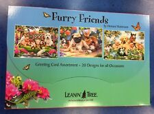 "Leanin Tree Greeting 20 Greeting Card  Assortment "" Furry Friends """