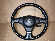 99-05 Lexus IS200 300 BLACK LEATHER STEERING WHEEL OLD STOCK 60k miles VGC